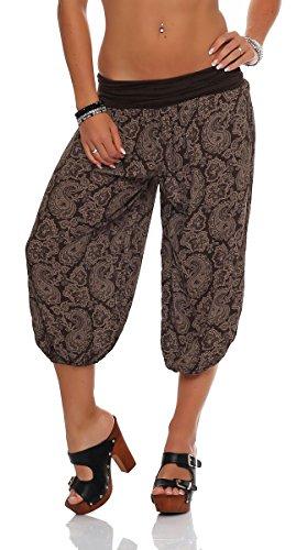 Malito 8581 - Pantalones capri para mujer con estampado...