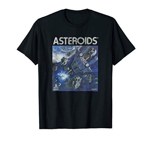 Official Atari Asteroids Box Art T-Shirt in Many Colors for Men or Women