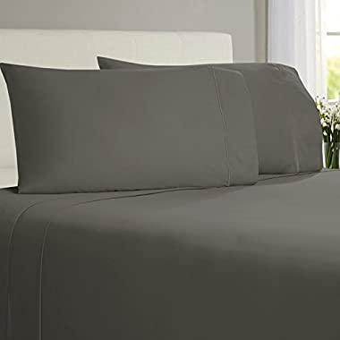 Softest Sheets By Linenwalas - Queen Bamboo Sheets - Bamboo Sheet Set - Blisfully soft Bed sheets softer than Cashmere Sheets (Queen, Grey)