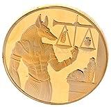 ARUNDEL SERVICES EU Egipcio Réplica Libra Conmemorativo Acuñar Chapado en Oro Pirámide Egipto