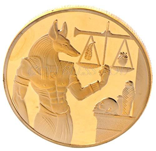 ARUNDEL SERVICES EU ägyptisch Replik Waage Gedenk Münze Vergoldet Pyramide Ägypten