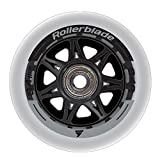 Rollerblade Wheelkit 84mm 84A, SG7 Bearings, 8 Pack, Clear, US Unisex ST