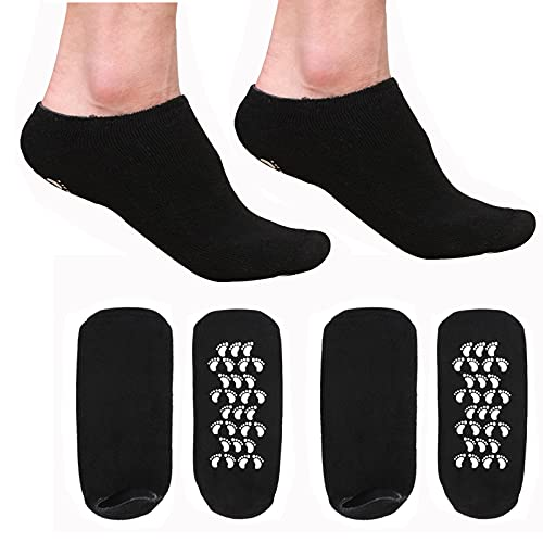 KIKIMAX 2 Pair Moisturizing Socks Men s Large Gel Spa Foot Socks for Hydrates and Softens Dry Feet, Cracked Heels, Calluses, Cuticles, Rough and Eczema Skin for SIZE US MEN 10-15