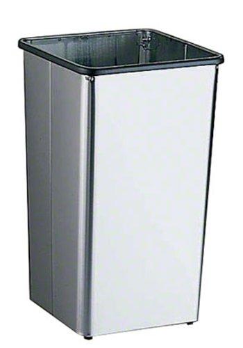 Bobrick 2260 en acier inoxydable magasins Réceptacle de déchets avec Open Top, fini satiné, 13 Gallon Contenance, 12–1/5,1 cm Largeur x 55,9 cm Hauteur