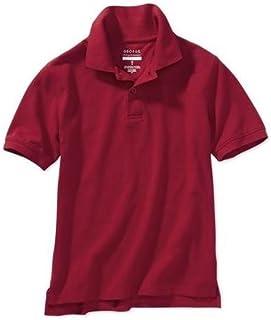 ジョージ?Boys ' School Uniform半袖ポロ、クラシックレッド、XLarge ( 14