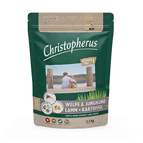 Christopherus Grainfree Trockenfutter für Welpen und Junghunde, Für kleine bis große Rassen, Lamm + Kartoffel, 1,5 kg