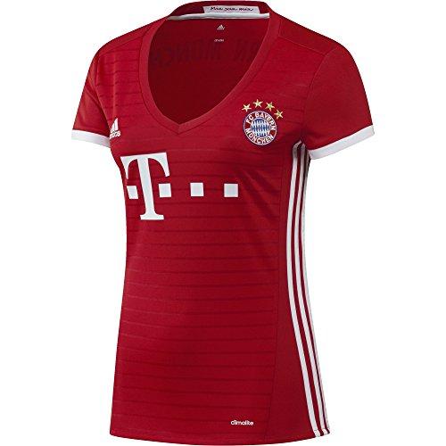 adidas Damen Fußball/Heim-trikot FC Bayern München Replica Heimtrikot, Fcb True Red/White, L