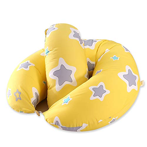 R&P Almohada Embarazada y Cojín de Lactancia con Relleno Bebé Pequeño Almohadas Cuerpo Completo para Dormir Lado,Amarillo