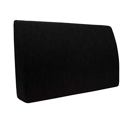 Formalind - Cuscino per letto e divano, 70 x 45 x 15 cm, per guardare la televisione e leggere, design elegante, in tessuto imbottito, Poliestere, Nero , 70 x 45 x 15 cm