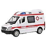 Modelo de Ambulancia de Juguete, 1:36 Hospital de Rescate Modelo de vehículo de Emergencia de Ambulancia de Juguete con luz de Retroceso para niños