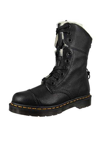 Dr. Martens Women's Aimilita FL Ankle Boot, Black Aunt Sally, 6 Medium UK (8 US)