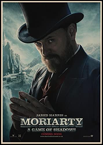 Weibing Sherlock Holmes Posters Película Lienzo Pintura Bar Cafe Shop Hogar Dormitorio Decoración y colección de Ventiladores 50X70 Cm (19.68X27.55 in) Q-865