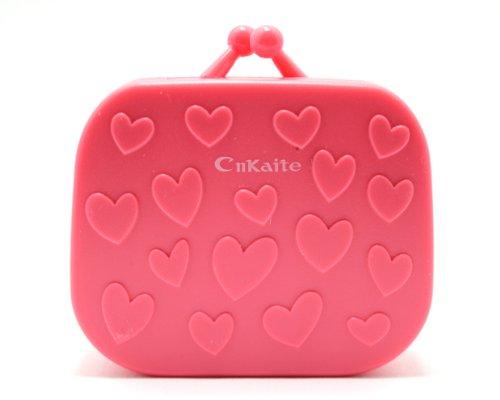 Kontaktlinsenbehälter Linsenbehälter Aufbewahrungsbehälter Handtasche Set NEU (Rot)