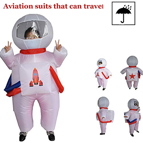 ODIMAI Disfraz Traje Espacial Inflable Niños,Traje Espacial Inflable,Disfraz Traje Espacial Inflable Niños,Disfraz De Aire para Niños