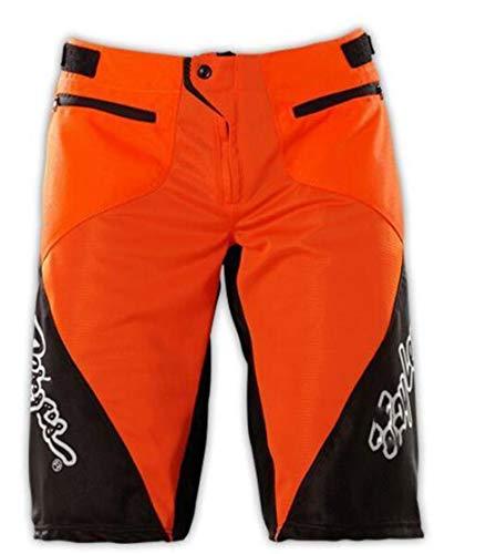BINGFENG Herren Mountainbike Bike Shorts Fahrrad MTB Shorts Loose Fit Radfahren Baggy Leichte Hose Mit Reißverschlusstaschen Atmungsaktiv Und Verschleißfest Red-M