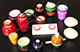 SUVE Wooden Choppu Jaman Traditional Kitchen Cooking Play Set for Girls (Multicolour) -14