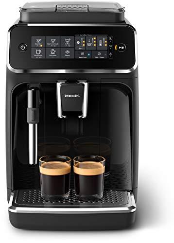 Philips 3200 Serie EP3221/40 Kaffeevollautomat, 4 Kaffeespezialitäten, Schwarz/Klavierlack-schwarz