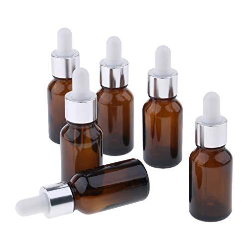 Hellery 6x Récipients Portatifs D'huile Essentielle De Bouteille De Compte-gouttes Liquide Rechargeable Portatif - 15ml