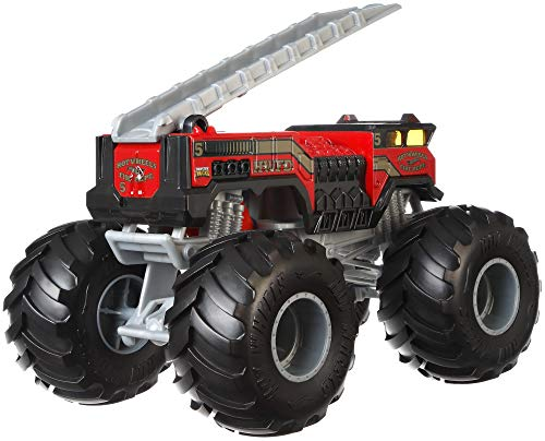 Hot Wheels GBV34 Monster Trucks 1:24 Die-Cast 5 Alarm