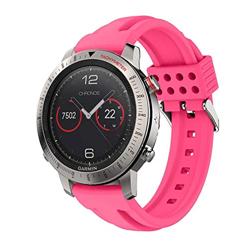 Purchase XZZTX Compatible with Garmin Fenix Chronos Strap, Soft Silicone Quick Release Watch Band Wr...
