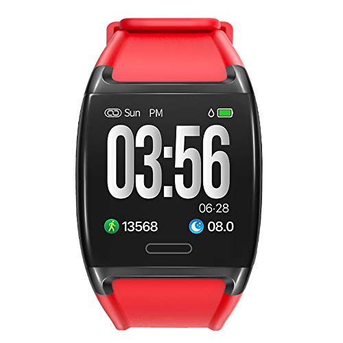 AUPALLA 'Play' Activity Tracker,Fitness Tracker con misurazione della frequenza cardiaca Pressione sanguigna pedometro Calorie bruciate Distanza monitoraggio del Sonno cronometro 20 avvisi (Rosso)