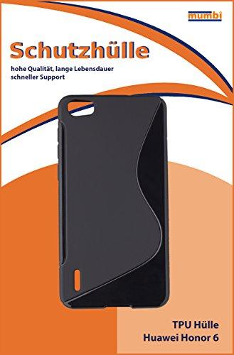 mumbi Hülle kompatibel mit Honor 6 Handy Case Handyhülle, schwarz - 2