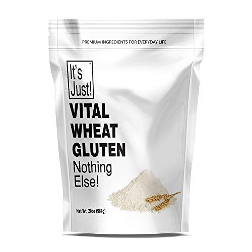 It's Just - Vital Wheat Gluten Flour, High Protein, Make Seitan, Low Carb Bread, 20oz
