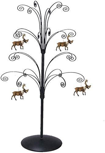 HOHIYA Ornament Tree Display Stand Metal Black Christmas Dog Cat Glass Ball Bauble 36 inch