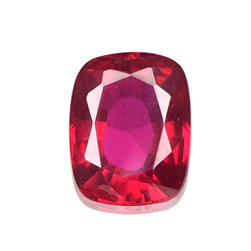 Real-Gems Brilliant Ringgröße 9,50 ct, kissengeschliffene Form, zertifizierter natürlicher Kunzit-Edelstein, natürlicher facettierter Kunzit für Schmuck
