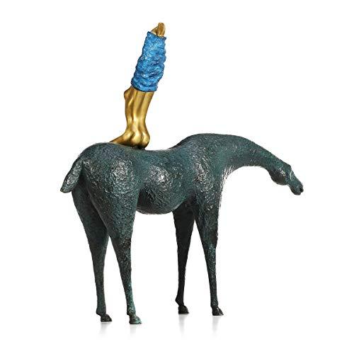 DeepBlue Bronze-Statuen und Skulpturen, abstrakte Skulptur, Kunst, Heimdekoration, Zimmer, Couchtisch, Fernsehschrank, Büro, Schreibtisch-Dekoration