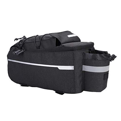 FOLOSAFENAR Bolsa Impermeable Ajustable para Asiento Trasero de Bicicleta, para la mayoría de Bicicletas y Bicicletas eléctricas(Black)