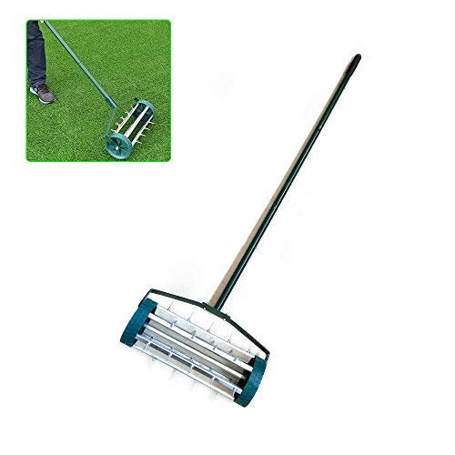 WUPYI Lawn Aerator Roller,Heavy Duty Rolling Lawn Aerator W/Spiked Drum Garden Tools Equipment Grass Cutter Roller/Rolling Scarifier
