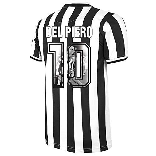 Copa Juventus Home Del Piero 10 Retro Trikot 1994-1995 (Gallery Style Beflockung) - M