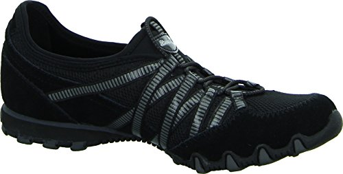 Skechers Bikers Hot-Ticket, Damen Sneakers, Schwarz (BKCC), 38 EU - 4