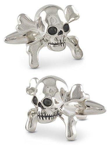 ZAUNICK Crossbones Skull Manschettenknöpfe Silber 925 handgefertigt