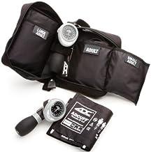کیت EMT Multikuf 731 3-Cuff EMT با 804 پالپ قابل حمل آنژیوئید اسفنجمومومتر ، بزرگسالان کوچک ، بزرگسال و بزرگ فشار خون بزرگسالان (19-50 سانتی متر) ، مورد نایلون زیپ ذخیره سازی ، سیاه