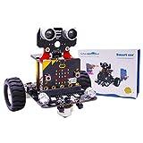 JING Micro: bit Smart Car Robot Kit, Tablero De Desarrollo De Programación De Microbit V2, Educación De Python, Kit De Robot De Baile para Arduino, Soporte Aplicación De Android Control,with Board