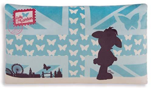 NICI 42808 Mäh 32 Kissen Schaf Jolly Jayden rechteckig, 43 x 25 cm, weiß/blau