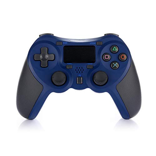 Mando Inalámbrico Gamepad Wireless Controlador Inalámbrico Compatible con Playstation 4 Dualshock 4 con Los Botones De Activación Playstation 4 y Windows (Azul)