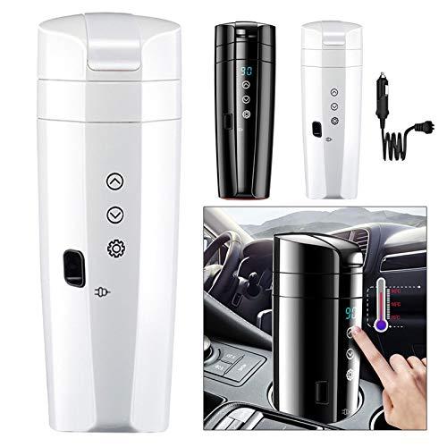 Desire Sky 350ml Temperaturkontrolle Tasse, kontrollierte beheizte Kaffeetasse, verbessertes Design, Auto Smart Elektrisch Beheizter Reise-Kaffeebecher, Wärmer Tasse Wasserkocher für Milch / Tee