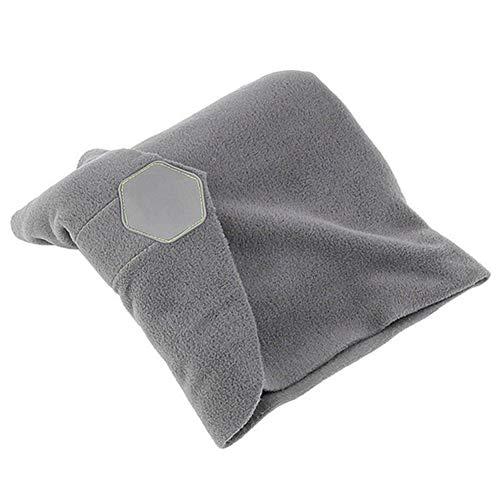 LLTT Cuscino da Viaggio Aereo della Sciarpa di Collo Cuscino No gonfiabili Comodi Cuscini Portatile Home Office Poggiatesta Sonno Cuscini da Massaggio (Color : Gray, Size : One Size)