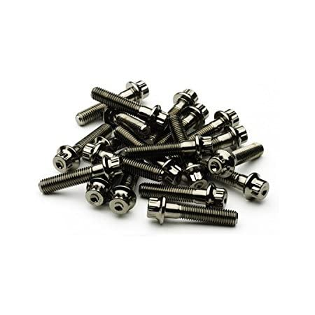 Dy 120  split rim bolts M7x32 stainless steel goldlook for BBS Rial Schmidt O.Z