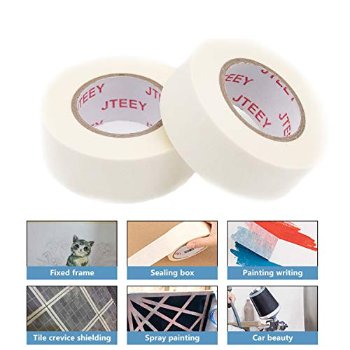 White Masking Tape 1 inch,6 Pack General Purpose Beige Painter's Tape Bulk for Painting, Labeling, Packing, Craft, Art,Home, Office, School (6 Pack,22yard per roll) Photo #5