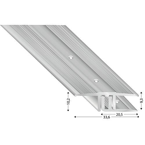 1/pieza 11100/S 100 k/ügele gleitabsc hluss Perfil U aluminio plata anodizado 10//1000/mm