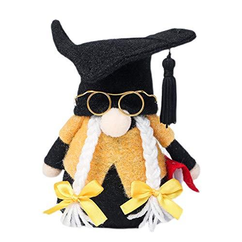 Fly-Dream Gnomos de graduación de felpa de grado sueco Tomte Nisse Gnomo de felpa para decoraciones de graduación ceremonia de graduación clase de regalo