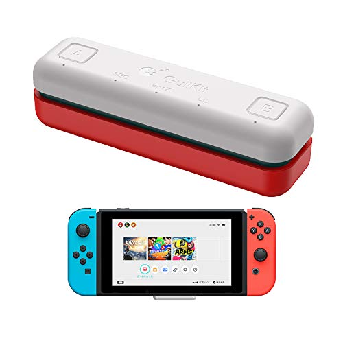 WeChip Adaptador de transceptor USB de Audio Bluetooth GuliKit Route Air para Nintendo Switch/Switch Lite / PS4 / PC, 5 mm, sin retraso, Plug and Play, Blanco + Rojo