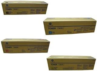 Konica BizHub C452 OEM Toner Cartridge Set - Black. Cyan. Magenta and Yellow