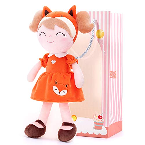 Gloveleya Weiche Puppe Stoffpuppe Puppe Plüschpuppe Mädchengeschenke Plüschtier 36 cm Spring Girl Fuchs