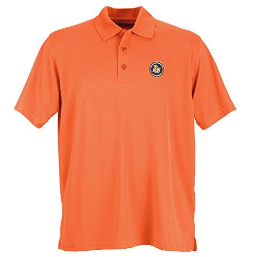 Vantage Apparel Minor League Baseball Bowling Green Hot Rods Men's Performance Mesh Polo Shirt, X-Large, Orange