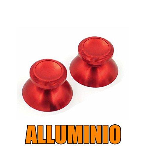 DP DESIGN SET 2 LEVE ANALOGICO METALLO ALLUMINIO CONTROLLER PS4 PS3 XBOX ONE 360 ROSSO